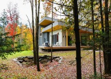 Gorgeous natural landscape around the exquisite Canadian home 217x155 Tranquil Private Residence Combines Modern Design with Rustic Charm