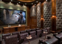Gorgeous tufted wall panels improve the acoustics of home theater 217x155 11 Trendy Rooms with Tufted Wall Panels