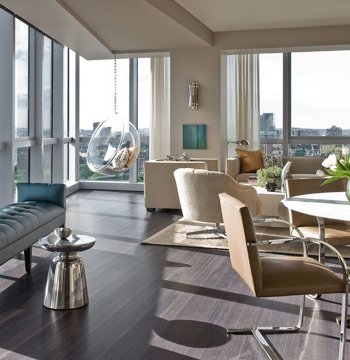 View In Gallery Grey Bamboo Flooring At A W Hotel Residence