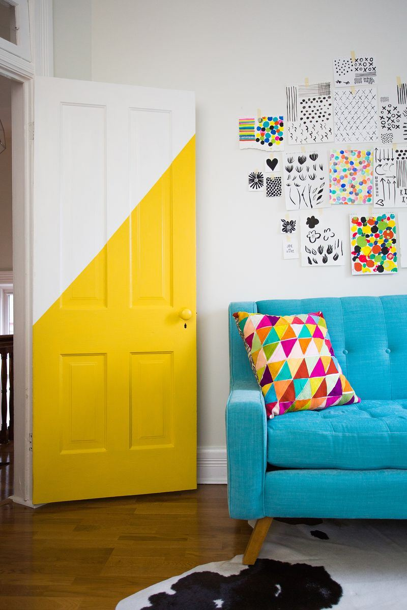 View in gallery Half-painted door from A Beautiful Mess & Personalize Your Home with a Painted Door