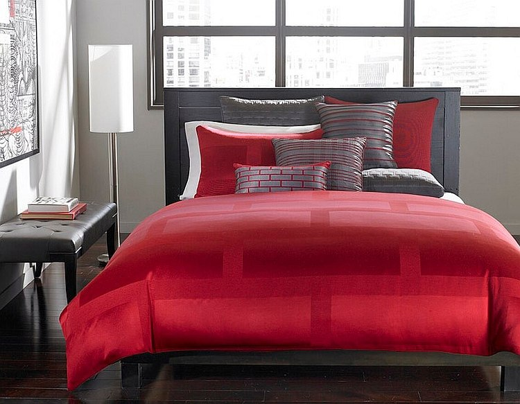 Well-known Polished Passion: 19 Dashing Bedrooms in Red and Gray! DT35