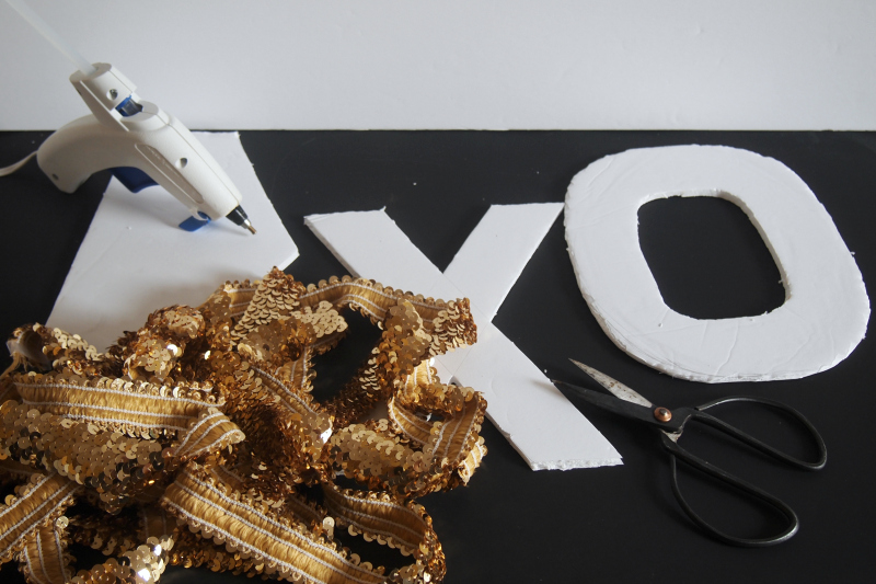 How to make sparkling Sequin Letters for Valentine's Day