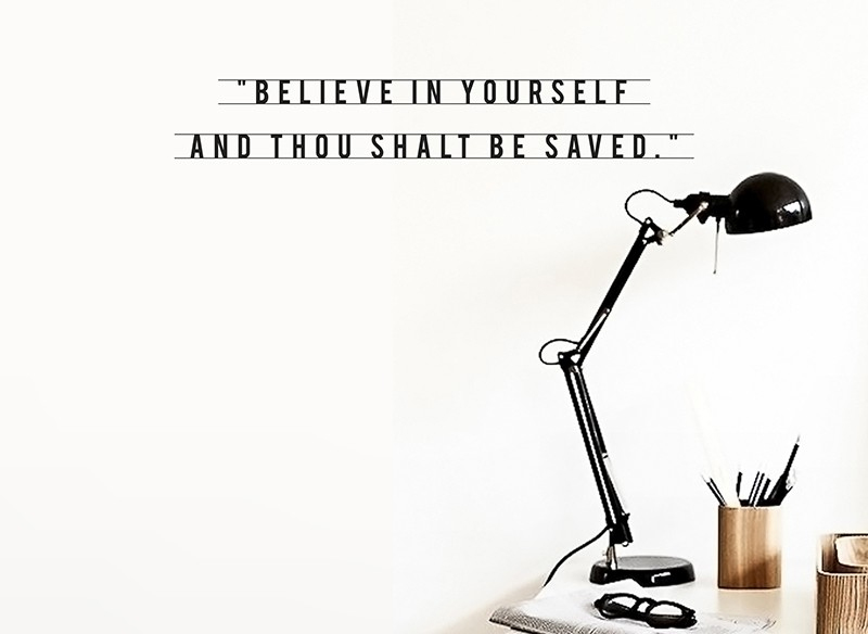 Hu2 Believe in Yourself Wall Decal