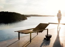 Illum lounger stands as a sculptural addition on the pool deck