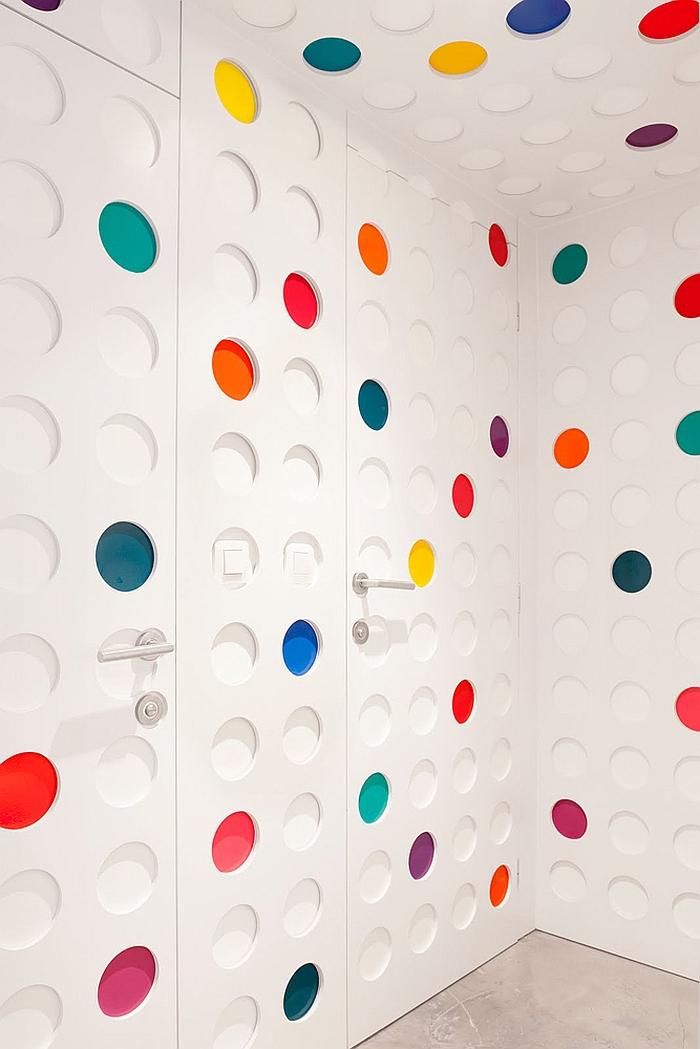Ingenious interiors of the Pantone Hotel in Brussels