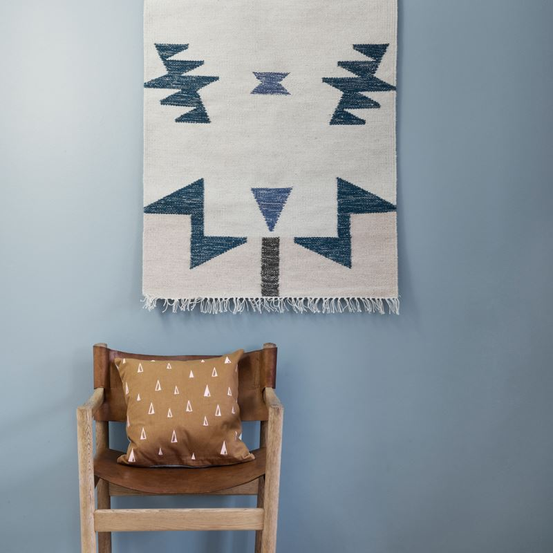 Kelim Rug from Ferm Living, with Illustration by Alyson Fox