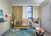 Kids' nursery also embraces the cool coastal style
