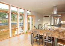 Kitchen area design - prefab home