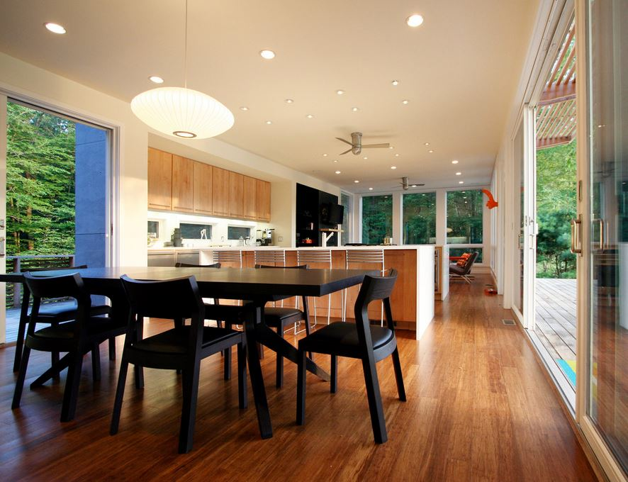 Kitchen featuring strandwoven bamboo
