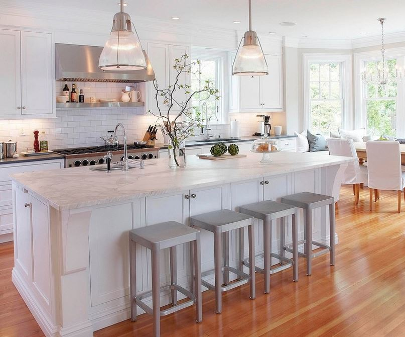 Kitchen with fresh greenery and produce