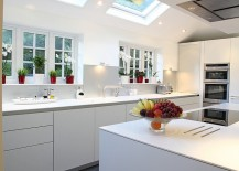 Let the skylights stand out as an architectural feature