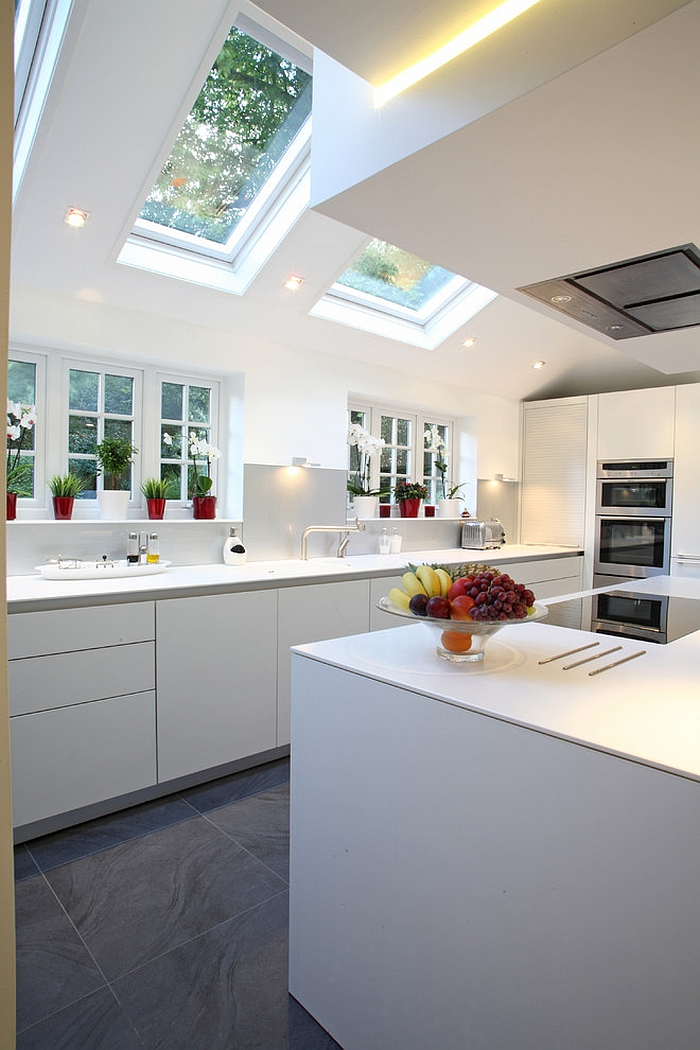 Let the skylights stand out as an architectural feature [Design: Bulthaup Winchester]