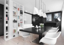 Lovely-black-and-white-photgraphs-add-to-the-monochromatic-look-of-the-apartment-217x155