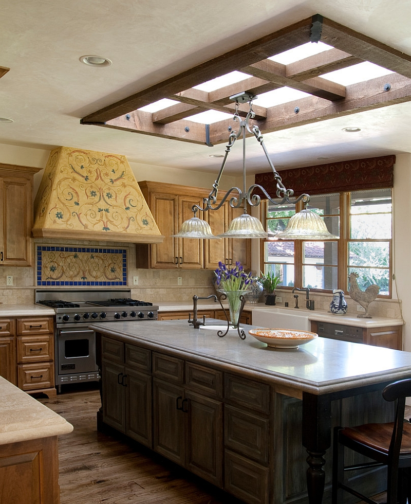 Lovely skylight blends in with the style and theme of the room [Design: Francis Garcia Architect]