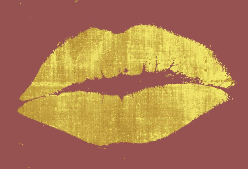 Marsala kiss print art from Etsy shop Lips & Kisses