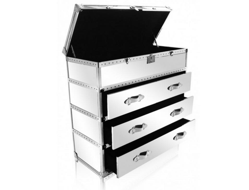 Maxfield Dresser in White and Mirror Finish