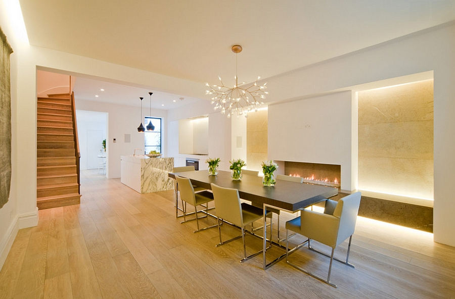 Meeting of the modern icons - Heracleum and the Tom Dixon pendants! [Design: Perfect Integration]