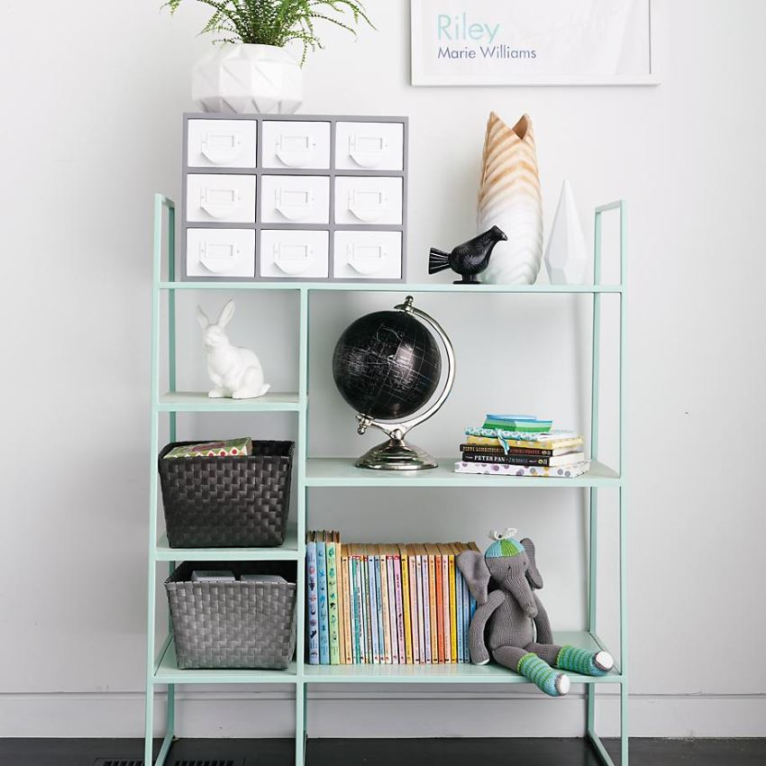 Mint bookshelf from The Land of Nod