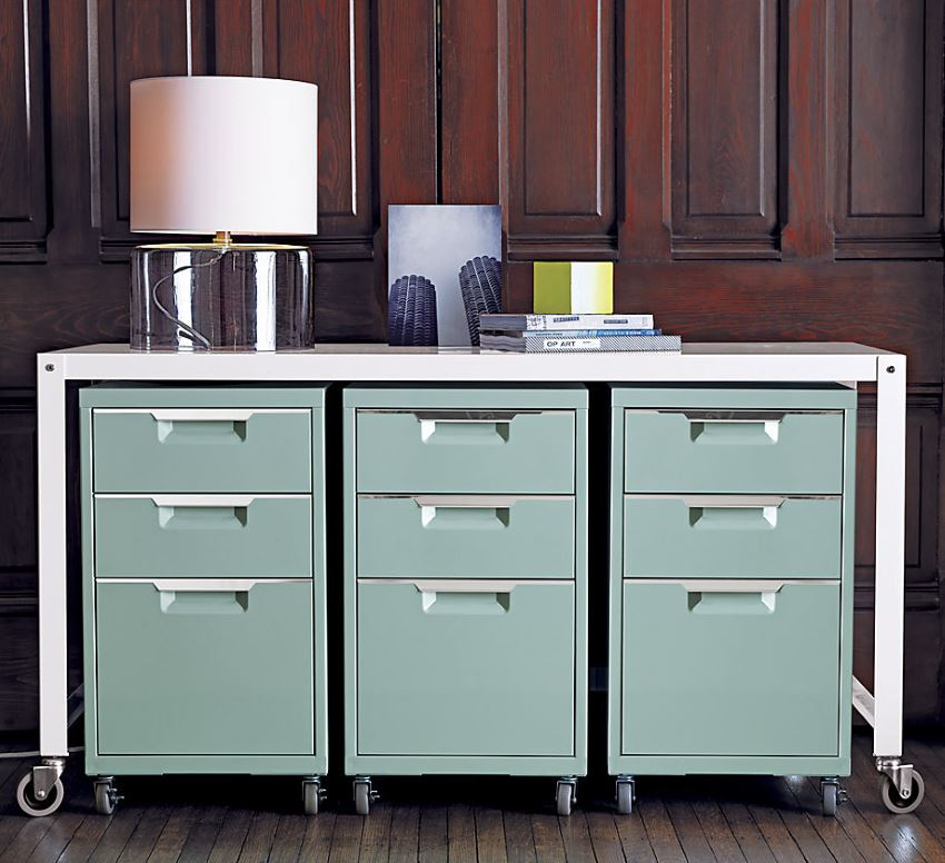Mint filing cabinets from CB2 A Spring Design Preview: The New Collections Are In!