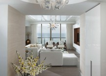 Modern Design Hope Suspension Pendant Lamp at the entry