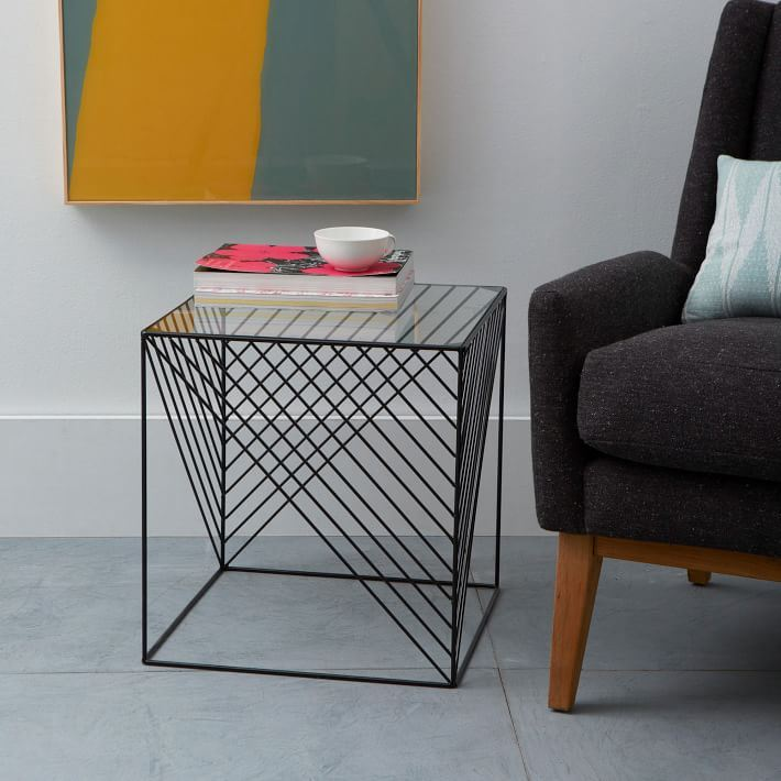 Modern side table from West Elm