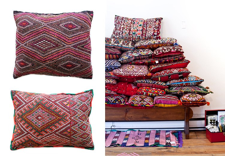 Moroccan pillow selections from Baba Souk
