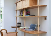 Multi-finctional unit brings the home office into the kitchen