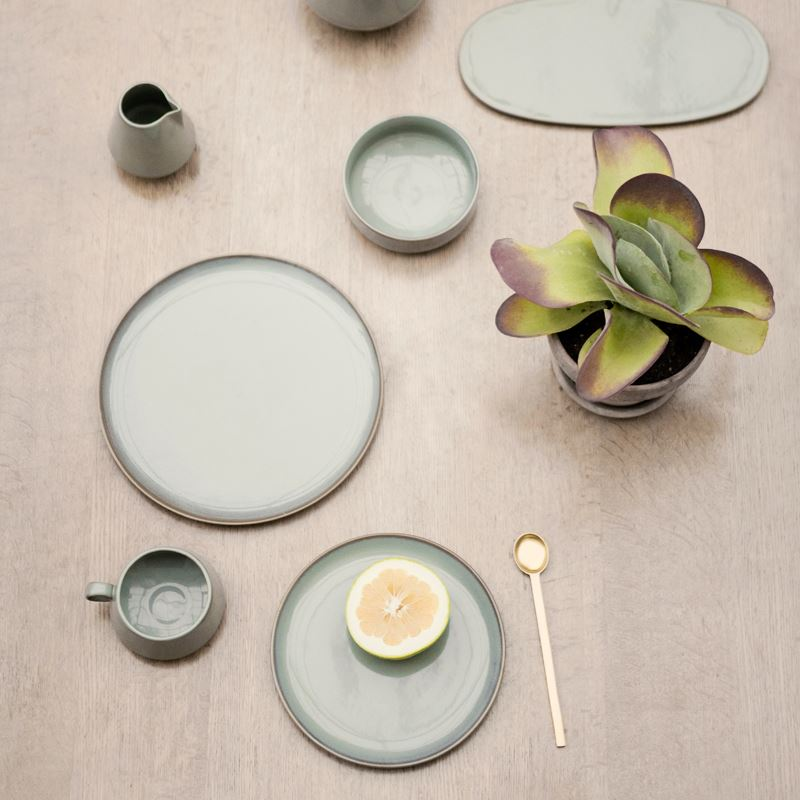Neu stoneware and brass spoons from Ferm Living