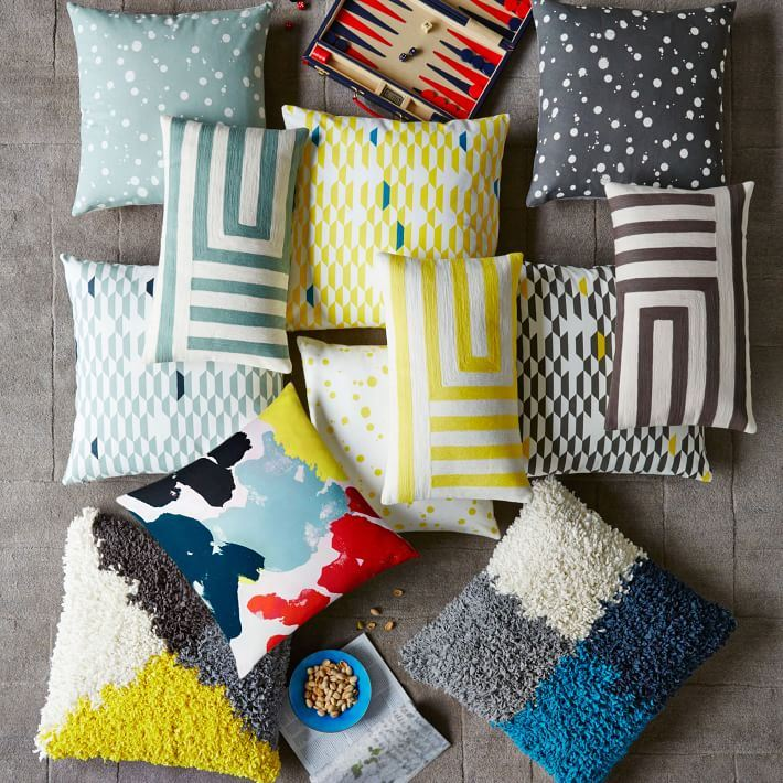 New pillows from West Elm