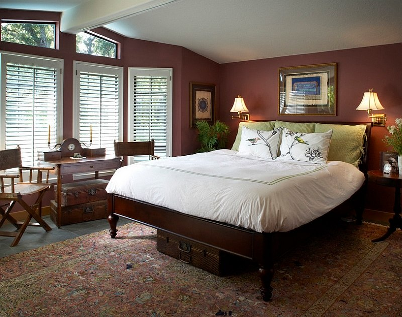 bold bedroom colors.  Pantone color of the year Marsala used for bedroom walls Design Harrell Remodeling Hot Bedroom Trends Set to Rule in 2015