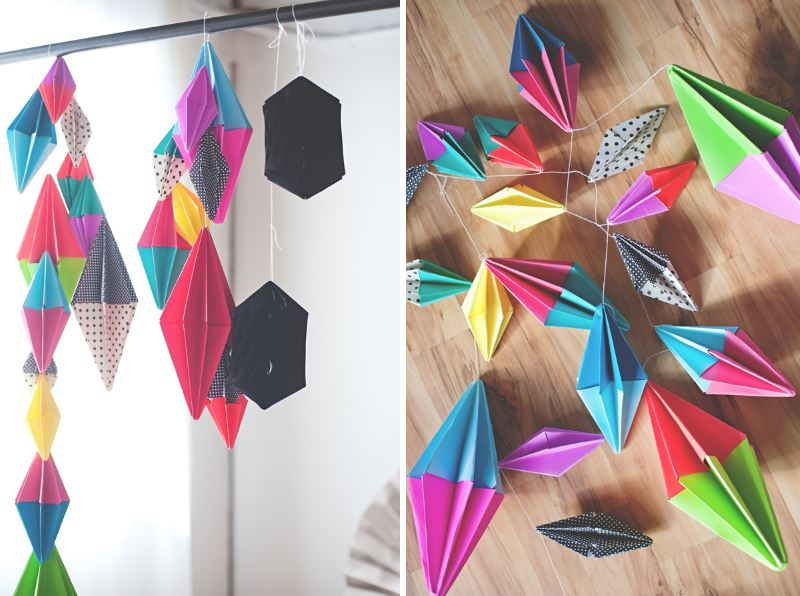 Party garland tutorial from A Subtle Revelry