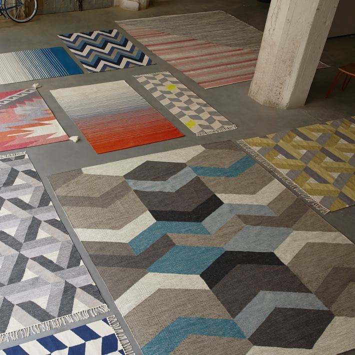 Patterned rugs from West Elm