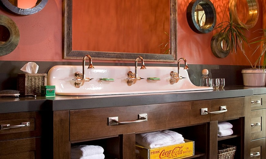 Beat Escape The Bathroom 25 bathrooms that beat the winter blues with a splash of color!