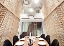 Pendants bring dazzling elegance to the New York dining room