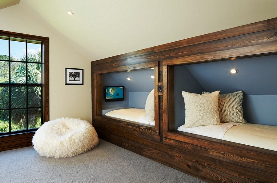 Perfect bed nooks for bedrooms with a sloping roof [Design: Giana Allen Design]
