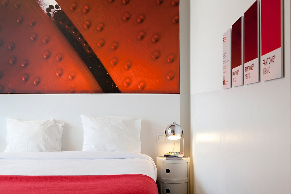 Pick a room in color that complements your mood at the Pantone Hotel