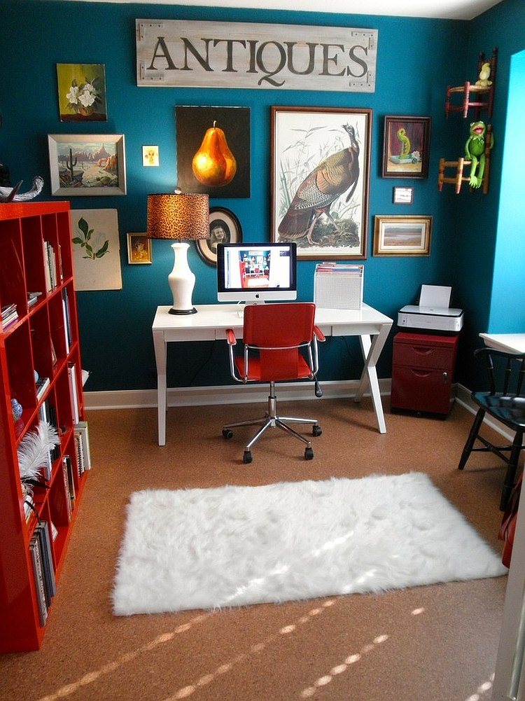 Nice View In Gallery Picture Collection And Bright Color Scheme Of The Home  Office Leave You Mesmerized [Design:
