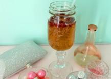 Pink Mason Jar Wine Glass Color Scheme