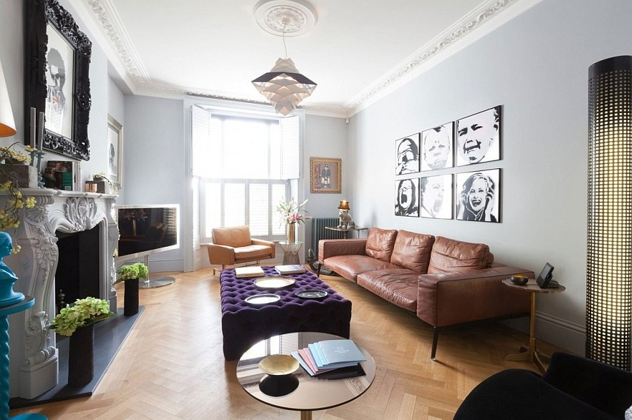 View In Gallery Plush Decor Inside The Living Room Of Revamped London Home