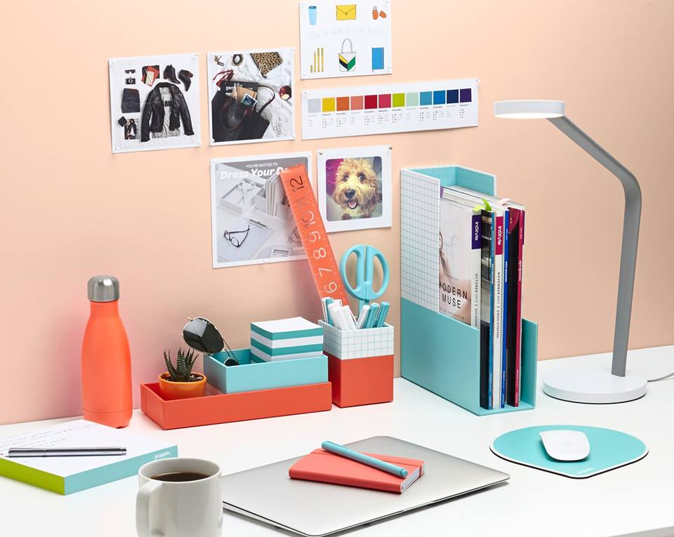office desk organization tips. Decorating Ideas With Mural · View In Gallery Poppin Desk Organizers . Office Organization Tips