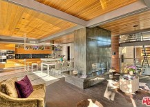 Prefab Home by Ray Kappe - Living room