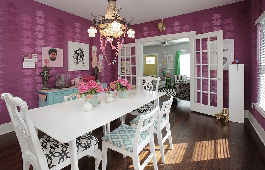 How to Fashion a Sumptuous Dining Room Using Majestic Purple