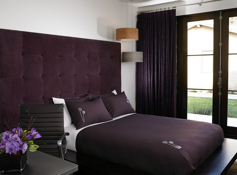 Hot bedroom design trends set to rule in 2015 for Purple bedroom designs modern