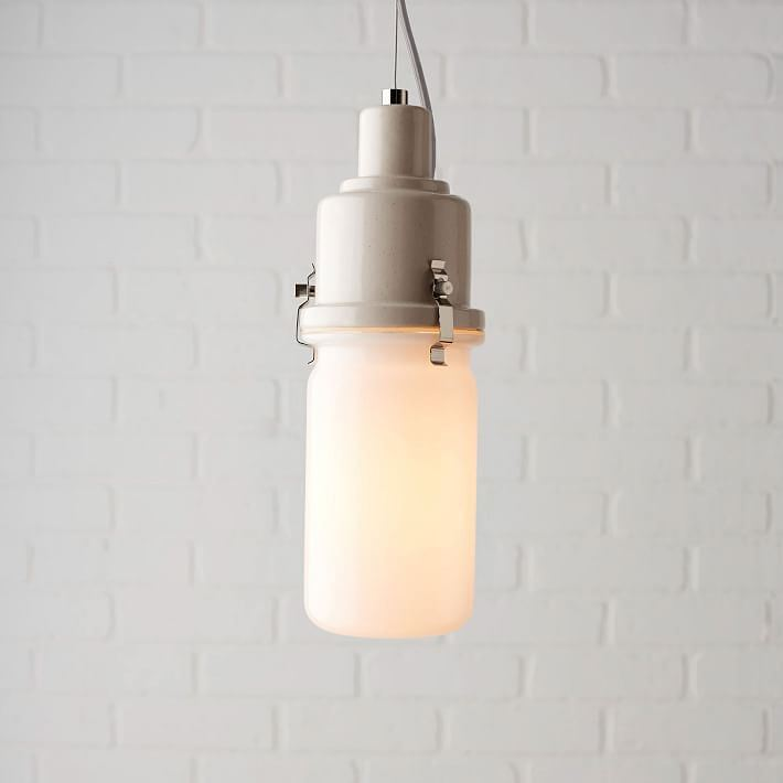Retro-style glass pendant from West Elm
