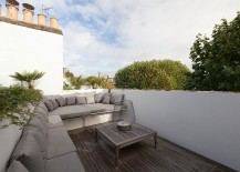 Roof terrace of the London home with lovely views