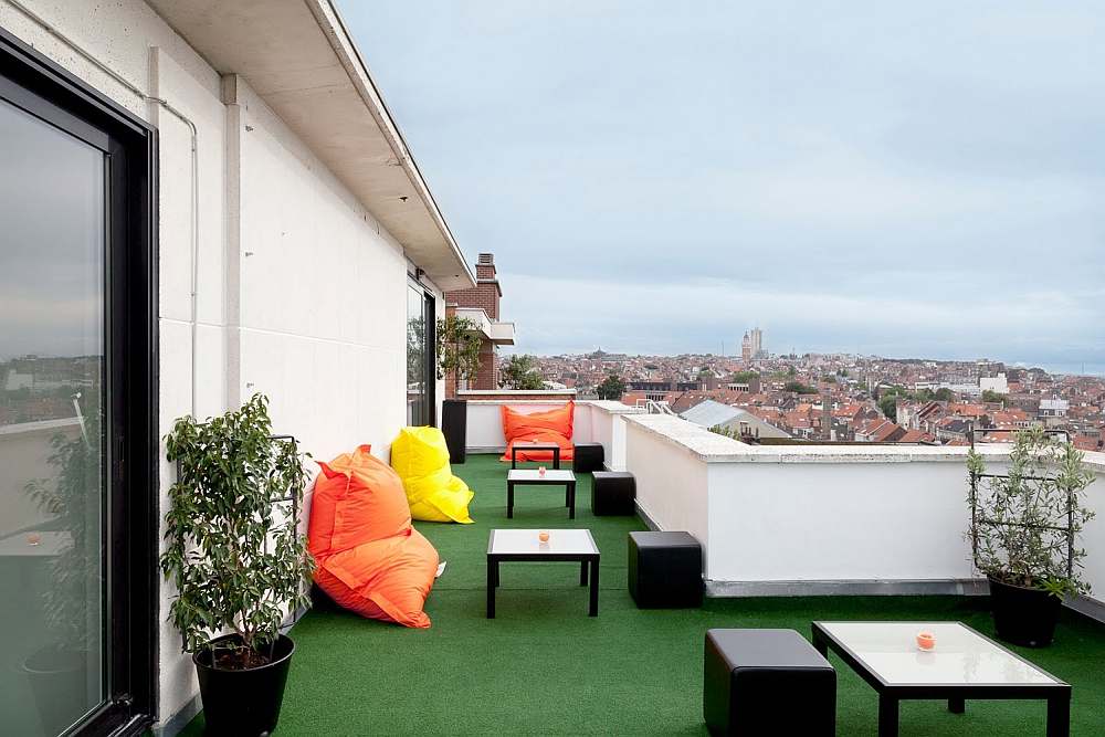 Rooftop terrace with lovely views of Brussels