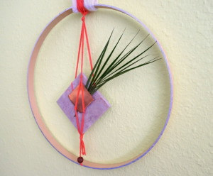 Round DIY wall hanging