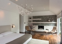 Scandinavian style bedroom with the Heracleum II pendant