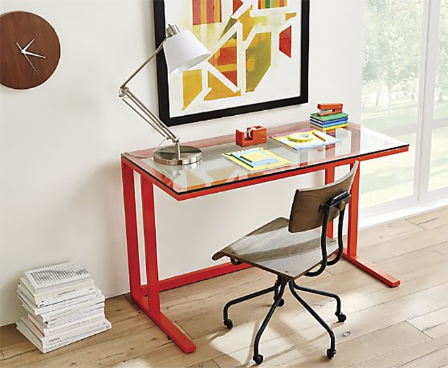 Scholar Desk Chair Red Office
