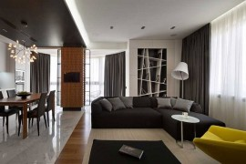 Posh Penthouse in Kiev Dazzles with Exquisite Use of Gray!